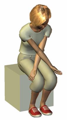 肩甲骨と背中のストレッチ1